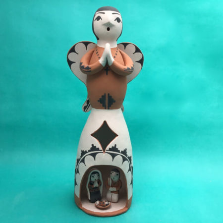 SANTO DOMINGO PUEBLO ANGEL NATIVITY BY ANGEL BAILON