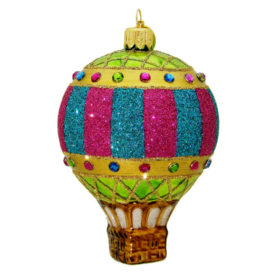 BALLOON ROYALE HOT AIR BALLOON GLASS ORNAMENT