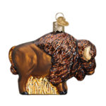 OLD WORLD BISON GLASS ORNAMENT