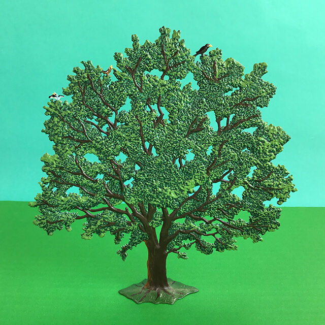 GERMAN PEWTER LARGE BEECH TREE