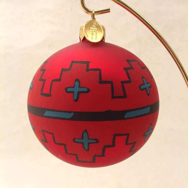 NAVAJO SPIRIT GLASS ORNAMENT
