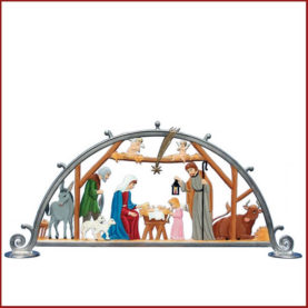 PEWTER NATIVITY ARCH BY WILHELM SCHWEIZER