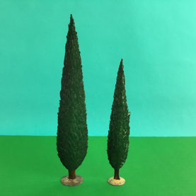 GERMAN PEWTER SUMMER PAIR OF CYPRESS
