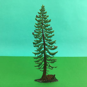 GERMAN PEWTER LARGE SUMMER WOODLAND PINE