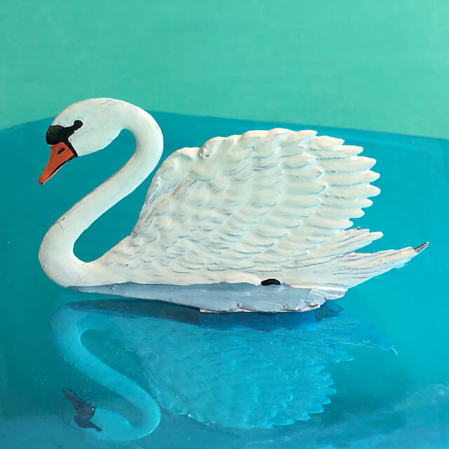 GERMAN PEWTER SWAN