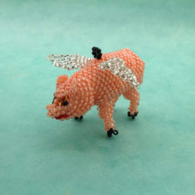 BEADED FLYING PIG