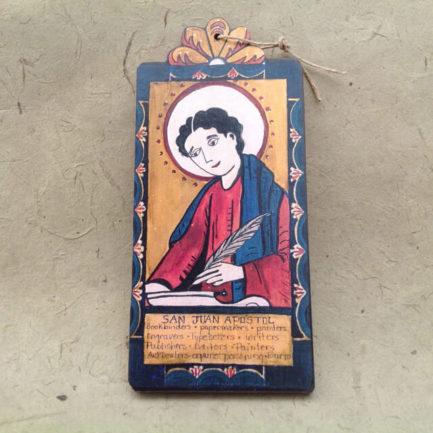 SAN JUAN APOSTOL RETABLO ORNAMENT BY LYNN GARLICK