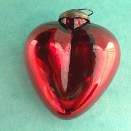 BIG MERCURY GLASS HEART