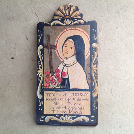 TERESA OF LISIEUX RETABLO ORNAMENT BY LYNN GARLICK