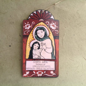 SANTA ANA RETABLO ORNAMENT BY LYNN GARLICK
