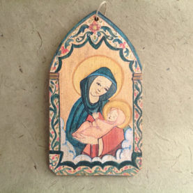 MADONNA RETABLO ORNAMENT BY LYNN GARLICK