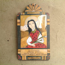 DYMPHNA RETABLO ORNAMENT BY LYNN GARLICK