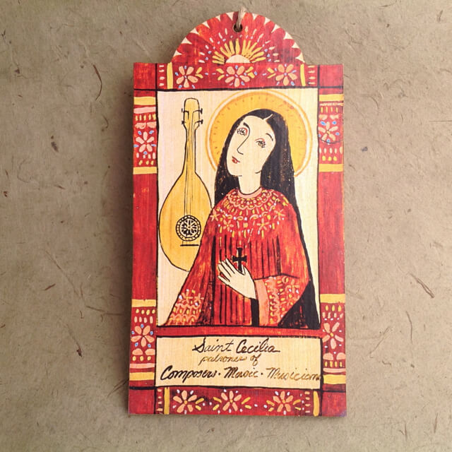 SAINT CECILIA RETABLO ORNAMENT BY LYNN GARLICK