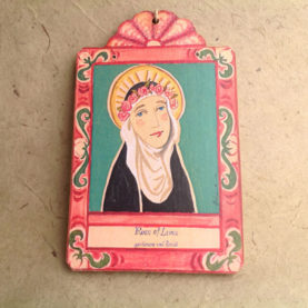 ROSE OF LIMA RETABLO ORNAMENT BY LYNN GARLICK