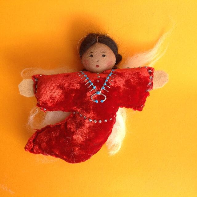 NAVAJO ANGEL ORNAMENT BY SYLVIA BEGAYE