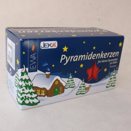 GERMAN PYRAMID CANDLES (RED)