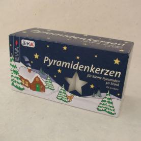 GERMAN PYRAMID CANDLES (WHITE)