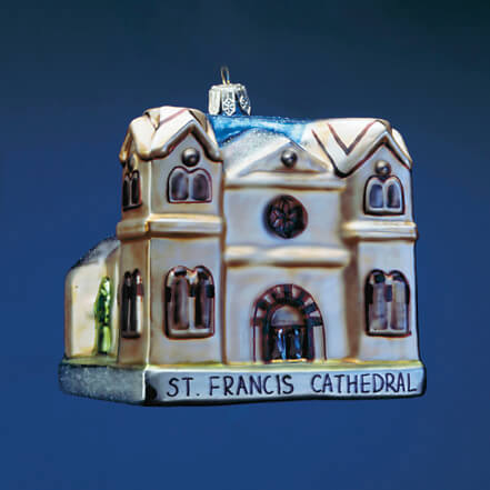 CATHEDRAL BASILICA OF ST. FRANCIS OF ASSISI GLASS ORNAMENT