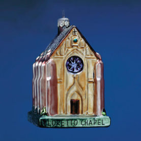 LORETTO CHAPEL GLASS ORNAMENT