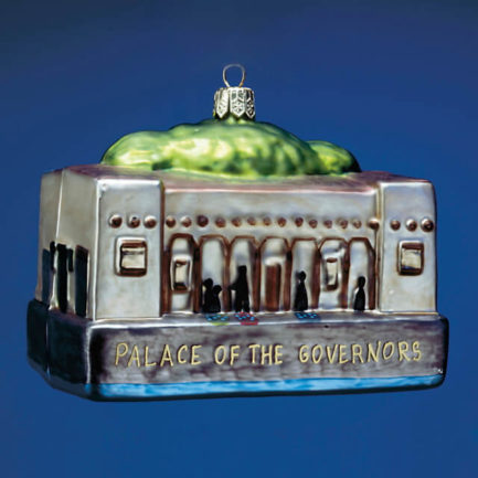PALACE OF THE GOVERNORS GLASS ORNAMENT