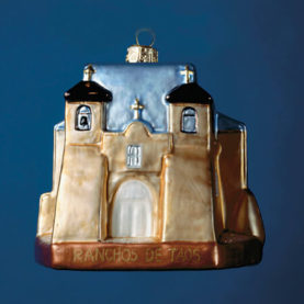RANCHOS DE TAOS GLASS ORNAMENT