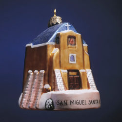 SAN MIGUEL MISSION GLASS ORNAMENT