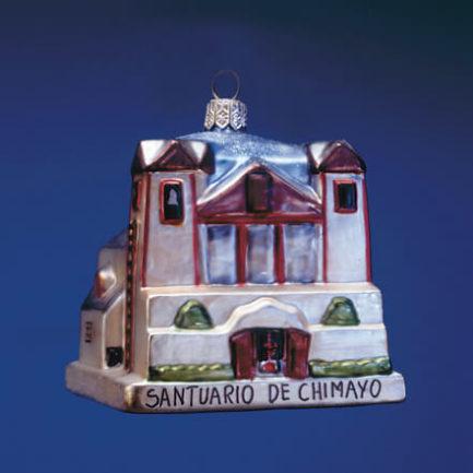 SANTUARIO DE CHIMAYO GLASS ORNAMENT