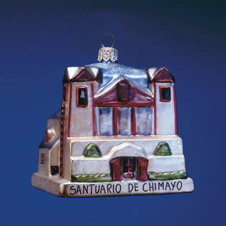 SANTUARIO DE CHIMAYO GLASS ORNAMENT