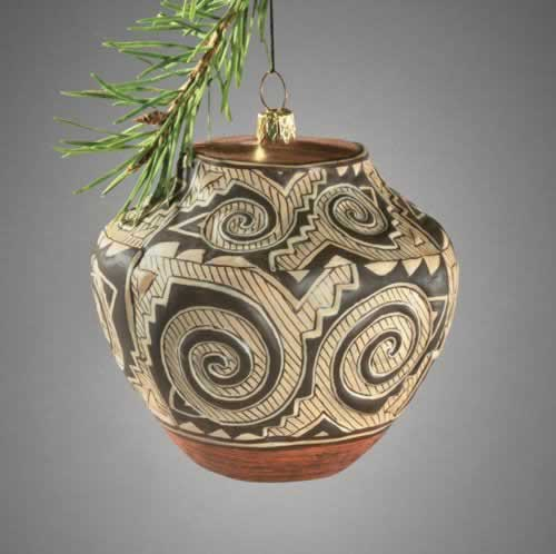 ACOMA POT GLASS ORNAMENT