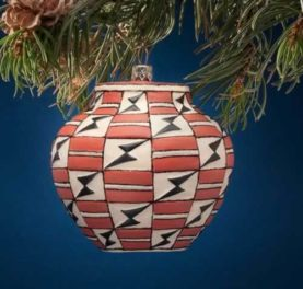 ACOMA POT GLASS ORNAMENT POLYCHROME