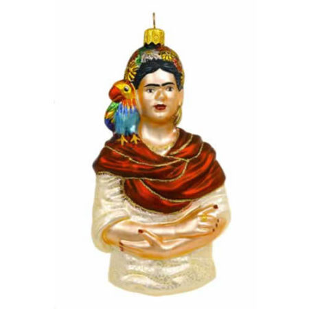FRIDA KAHLO GLASS ORNAMENT