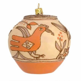 ZIA POT GLASS ORNAMENT