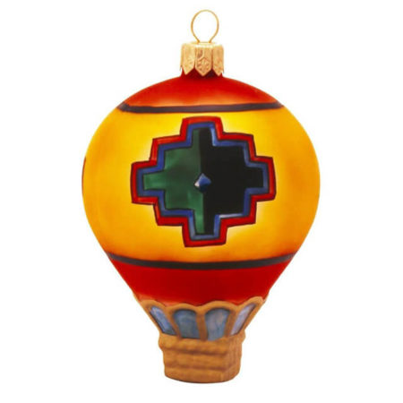 SPIRIT OF THE ANASAZI HOT AIR BALLOON GLASS ORNAMENT