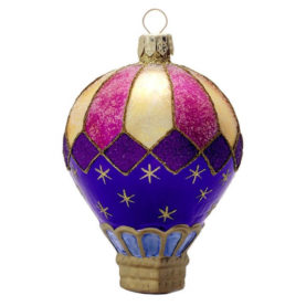 CELESTIAL HOT AIR BALLOON GLASS ORNAMENT