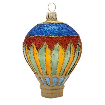 glass hot air balloon harlequin