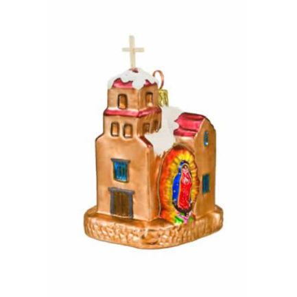 SANTUARIO DE GUADALUPE GLASS ORNAMENT