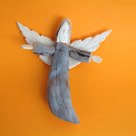 SMALL WOODEN ANGEL BY LOUISE ORTEGA