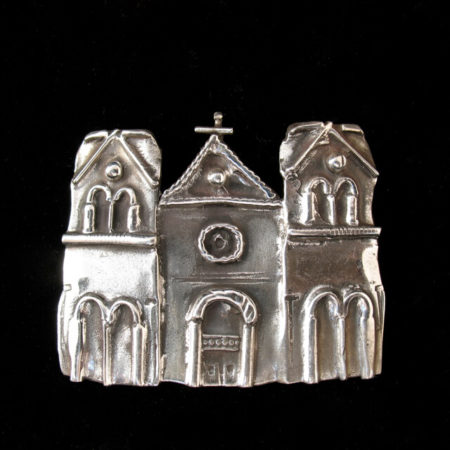 STERLING SILVER CATHEDRAL PIN BY CATHERINE MAZIERE