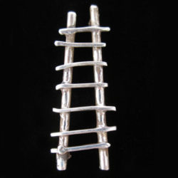 STERLING SILVER LADDER PIN BY CATHERINE MAZIERE