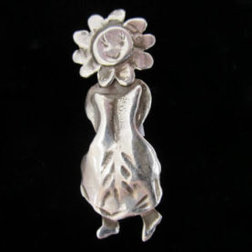 STERLING SILVER WALKING SUNFLOWER PIN BY CATHERINE MAZIERE