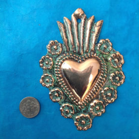 MEDIUM COPPER MILAGRO HEART