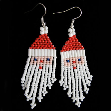 BEADED SANTA EARRINGS BY MELISSA WEBER