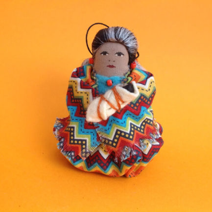 NAVAJO SPICE DOLL ORNAMENT BY THERESA NEZ