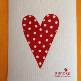 SWEDISH HEART DOTTED DISHCLOTH