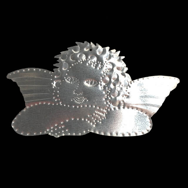 TIN CHERUB ORNAMENT