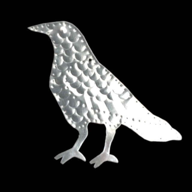 TIN CROW ORNAMENT