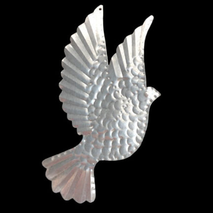 TIN DOVE WITH RAISED WINGS