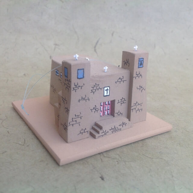 ACOMA PUEBLO CHURCH MODEL