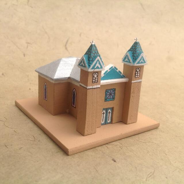 SAN LORENZO, BERNALILLO CHURCH MODEL