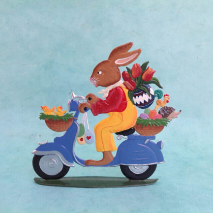 MOPED BUNNY: GERMAN PEWTER